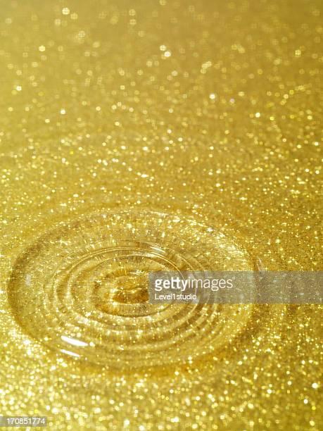 Gold dust spangled densely