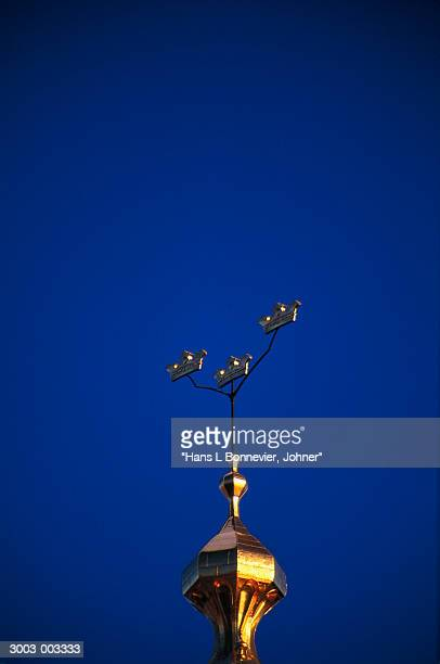 Gold Finial and Blue Sky