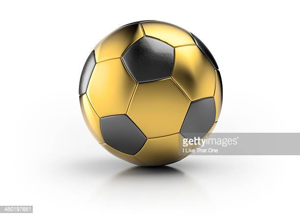 gold football - atomic imagery 個照片及圖片檔