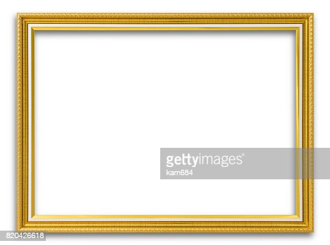 Gold Frame For Painting Or Picture On White Background Gold Frame ...