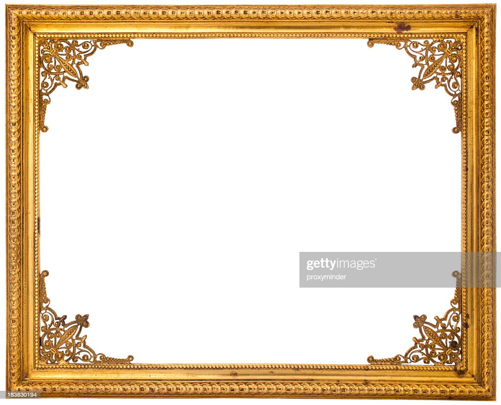 Gold Frame Isolated On White Stock Photo Getty Images