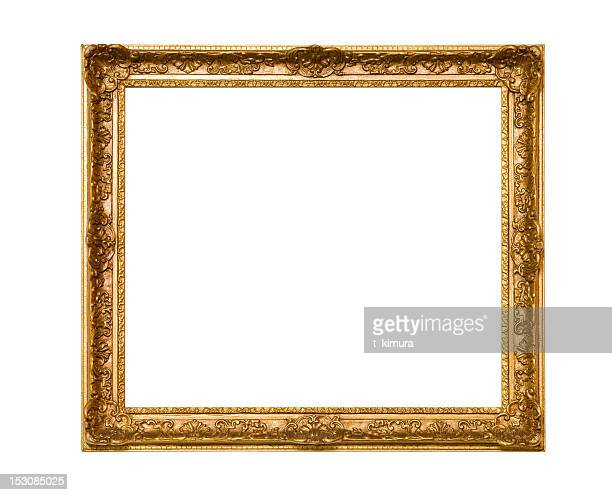 gold frame - rectangle stock pictures, royalty-free photos & images
