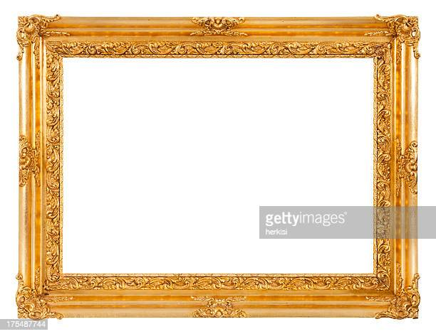 gold frame - ornate stock pictures, royalty-free photos & images