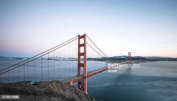 gold gate bridge in san francisco in blue sky