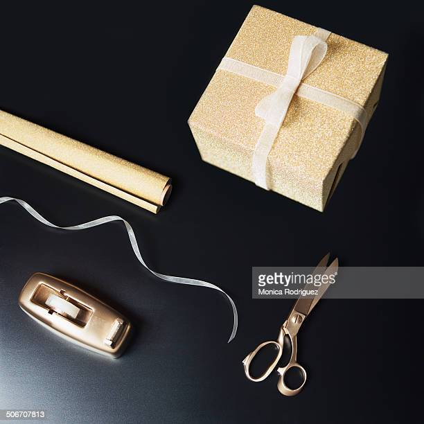 Gold Gift and Wrapping
