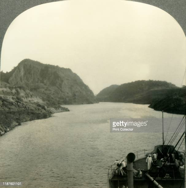Gold Hill Gaillard Cut Panama Canal' circa 1930s Culebra formerly Gaillard Cut is an artificial valley forming part of the Panama Canal and was a...