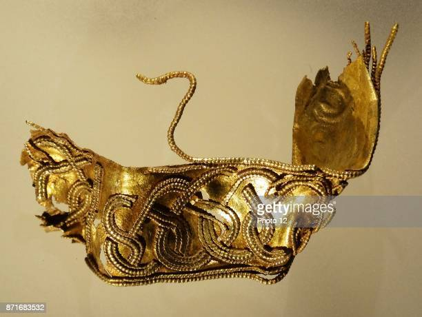 Gold hilt collar from a sword from the Staffordshire Hoard Dated 6th Century