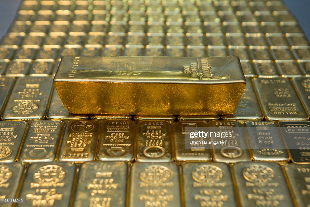 Gold House Pro Aurum In Munich The Symbol Photo Shows Gold Bars