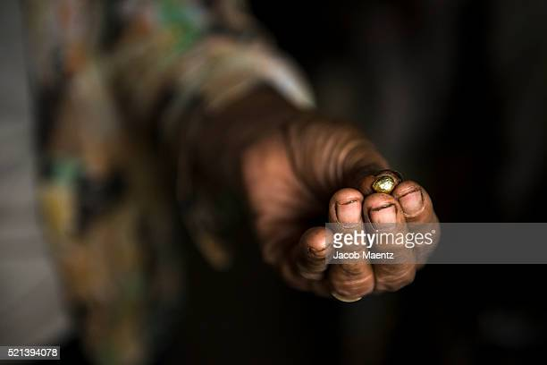 gold in its final form after being processed in a small-scale mining operation - 金属鉱石 ストックフォトと画像