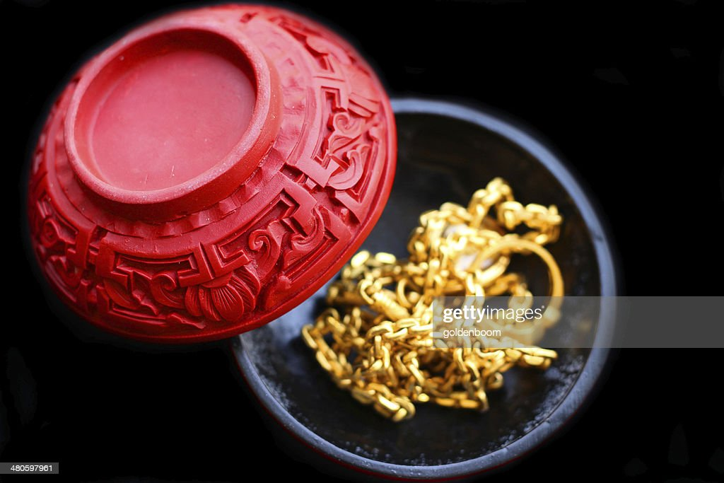 Gold in the China : Stock Photo