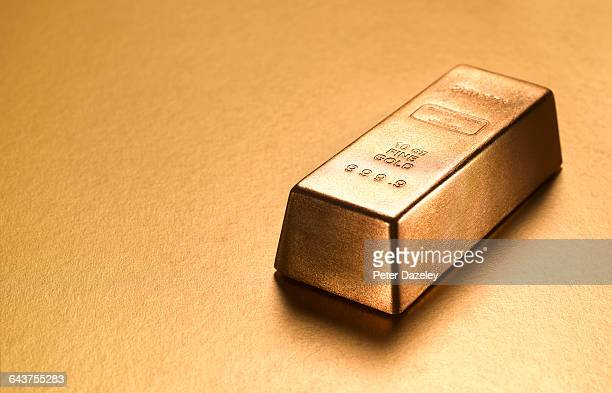 Gold ingot with gold copy space