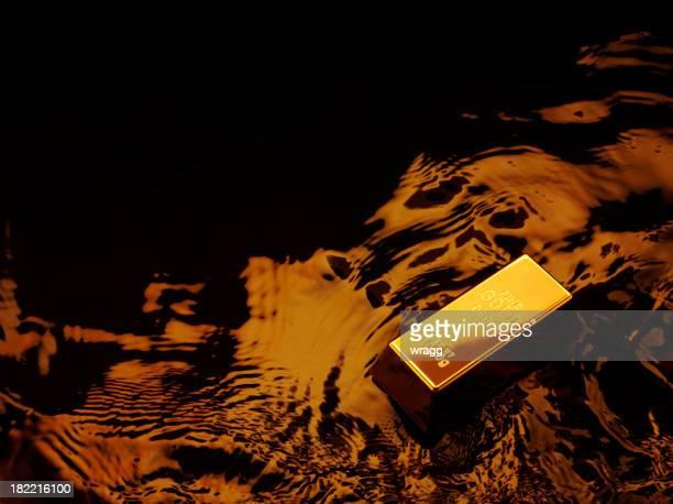 Gold Ingot with Luxury Brown Lighting