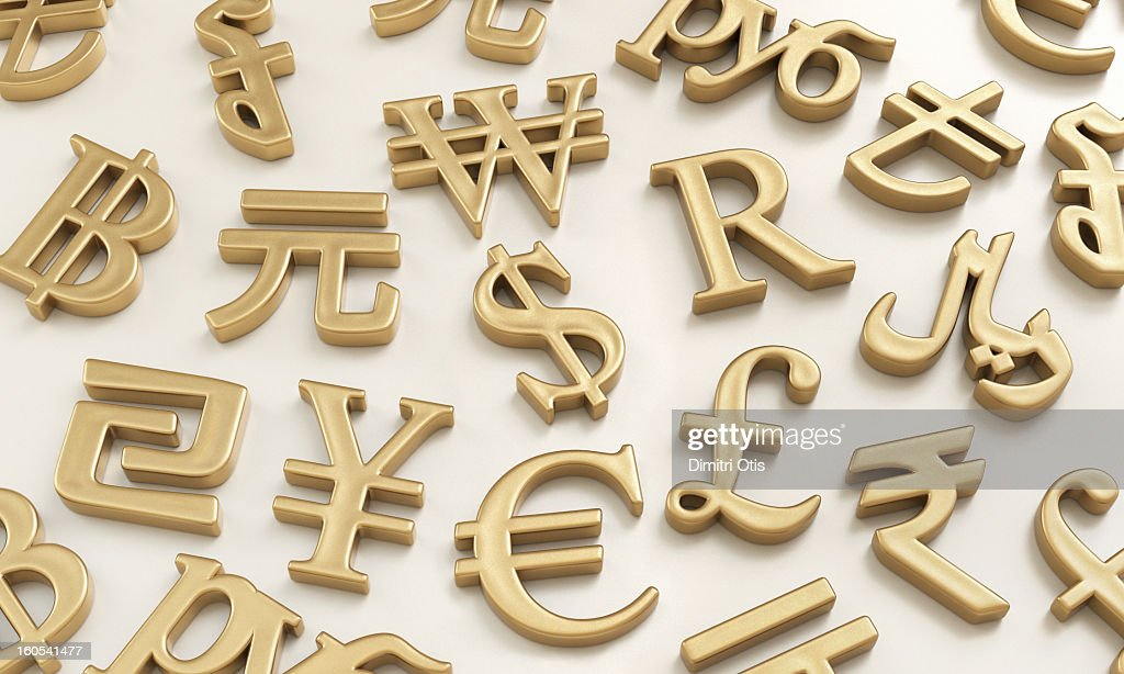 Gold International Currency Symbols Stock Photo Getty Images