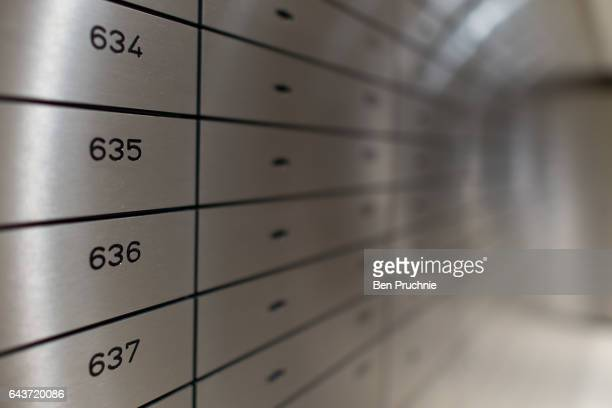 Gold is held in safety deposit boxes in the safe of Sharps Pixley Bullion Brokers on December 15 2015 in London England The brand established in 1778...