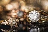 Gold jewelry.