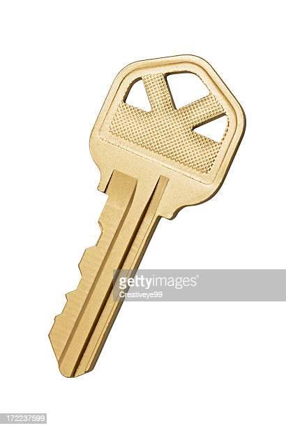 ゴールドキー - 家の鍵 ストックフォトと画像