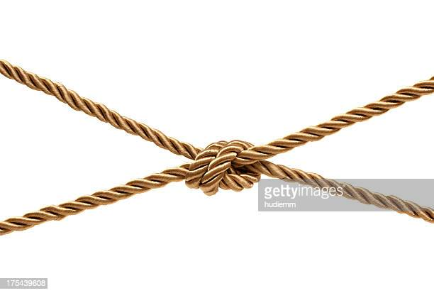 Gold Knot (Clipping path!) isolated on white background