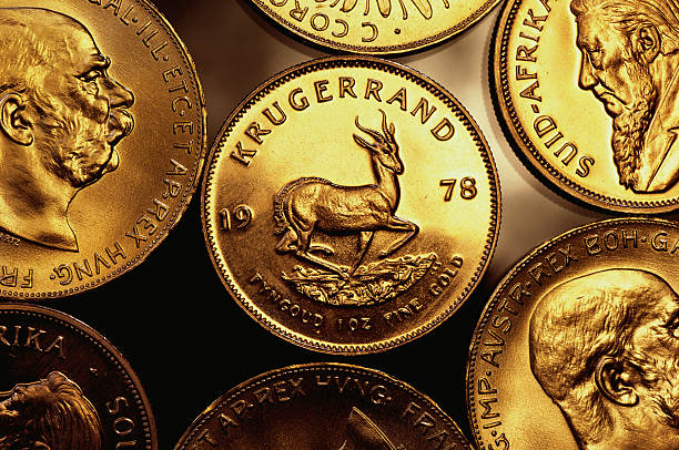 gold krugerrand coins picture
