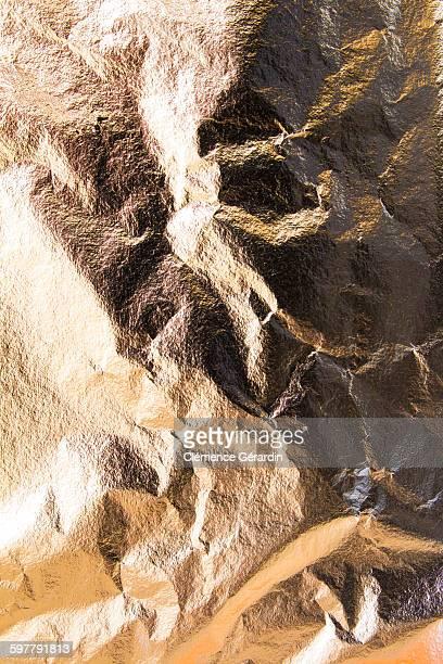 Gold leaf crumpled texture