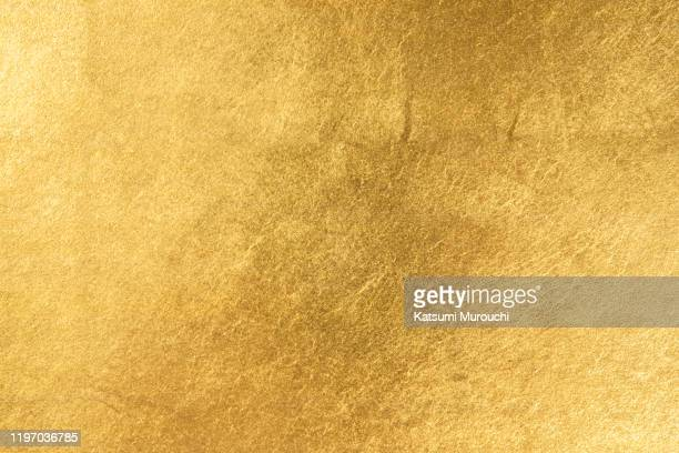 gold leaf texture background - metallic stock pictures, royalty-free photos & images