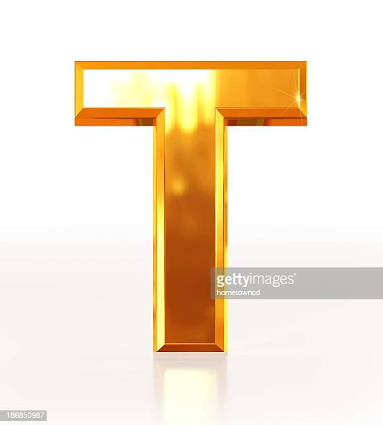 gold letter t - letter t stock pictures, royalty-free photos & images