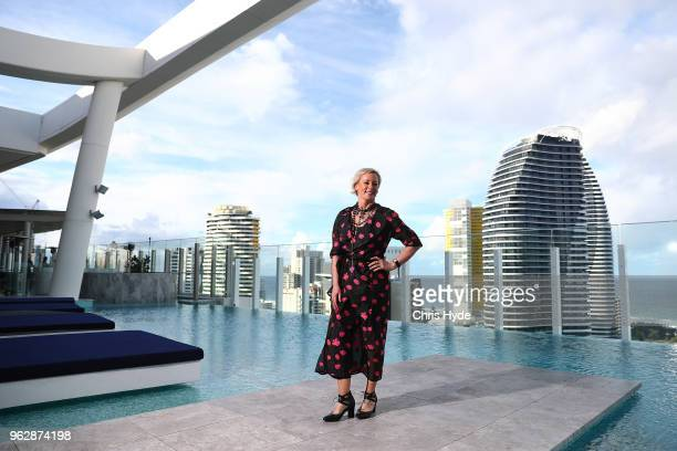 Gold Logie nominee Amanda Keller poses during the TV WEEK Logie Awards Nominations Party at The Star on May 27 2018 in Gold Coast Australia