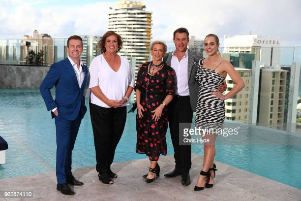 Gold Logie nominees Grant Denyer Tracey Grimshaw Amanda Keller Rodger Corser and Jessica Marais pose during the TV WEEK Logie Awards Nominations...