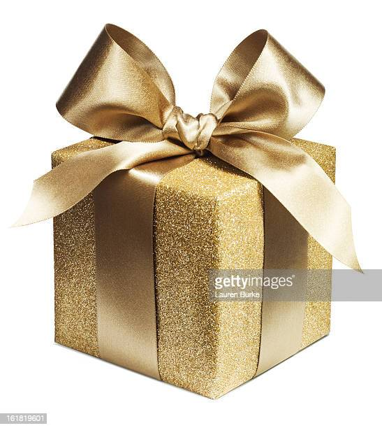 gold luxury gift - gift stock pictures, royalty-free photos & images