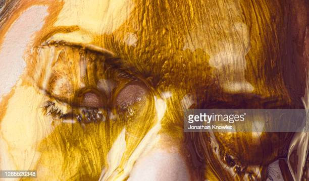 gold makeup - gold coloured stock pictures, royalty-free photos & images