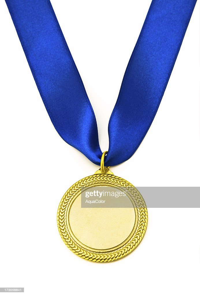 Gold Goldmedaille : Stock-Foto