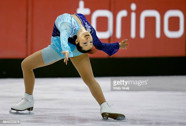 Gold medal winner Shizuka Arakawa of Japan performs in the Free Skating portion of the Women's Figure Skating competition at the 2006 Winter Olympic...