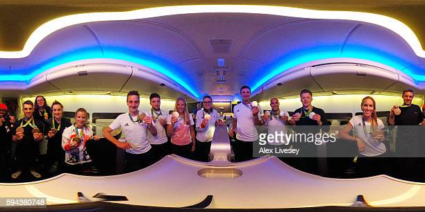Gold medal winning members of Team GB including Nicola Adams Max WhitlockKatie ArchibaldElinor BarkerAlistair BrownleeCallum SkinnerHelen GloverLiam...