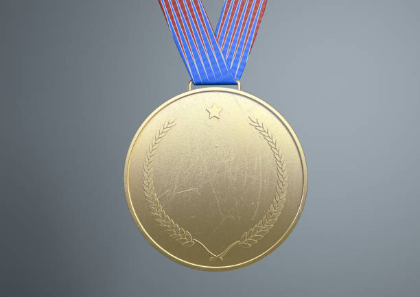 gold medal with copy space for message to winners