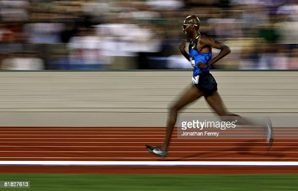 Gold medalist Abdi Abdirahman runs in the men's 10000 meter final during day six of the US Track and Field Olympic Trials at Hayward Field on July 4...