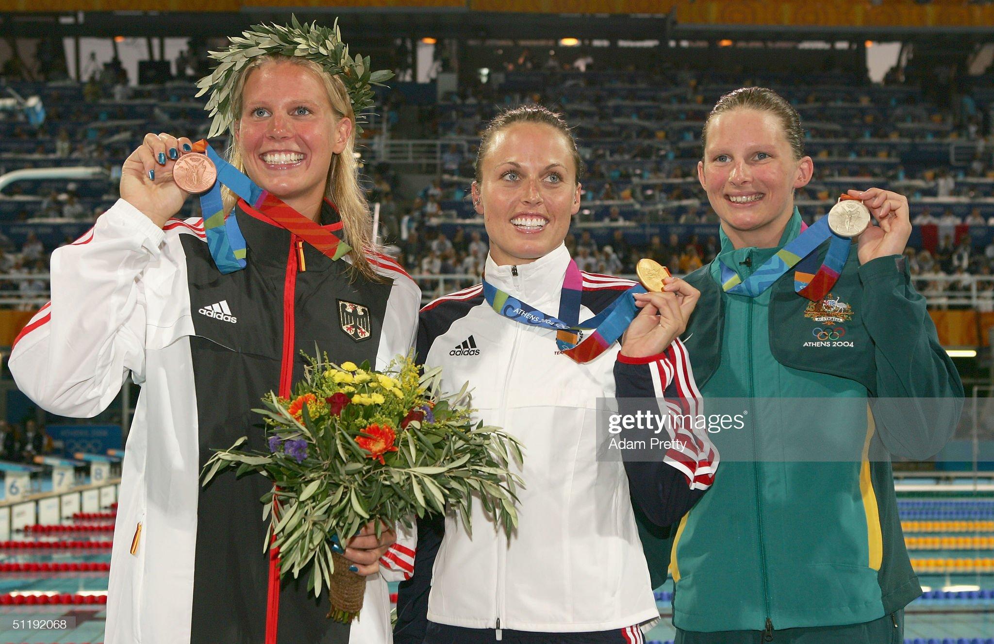 Womens 200m Breaststroke Medal Ceremony : Fotografía de noticias