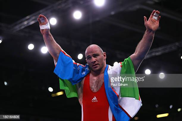 Gold medalist Artur Taymazov of Uzbekistan on Day 15 of the London 2012 Olympic Games at ExCeL on August 11 2012 in London England