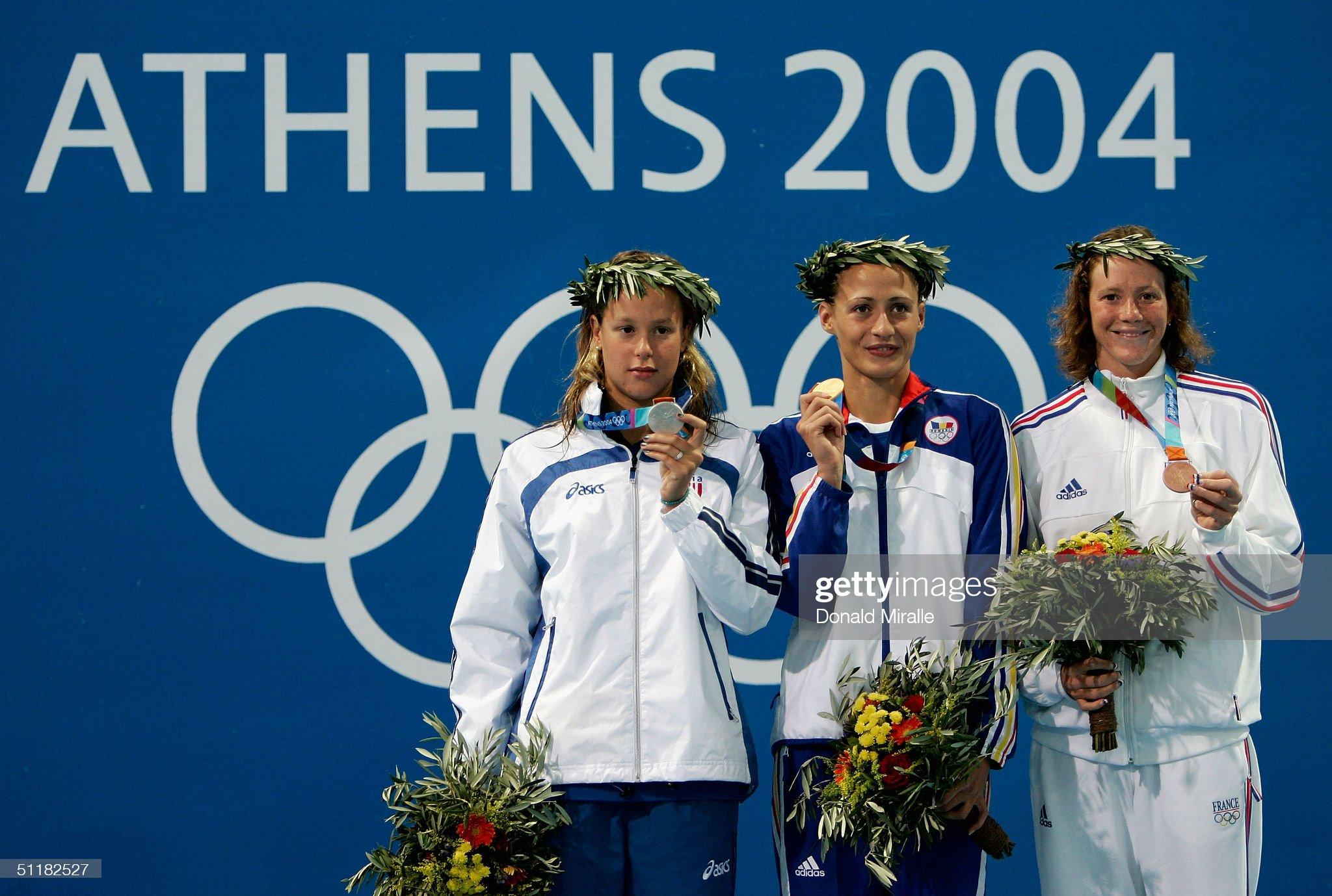 Womens 200m Free Medal Ceremony : Fotografía de noticias