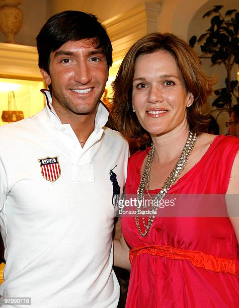 Gold medalist figure skater Evan Lysacek and actress Catherine Dent attend the celebration of Olympic gold medalist Evan Lysacek's victory at Ralph...