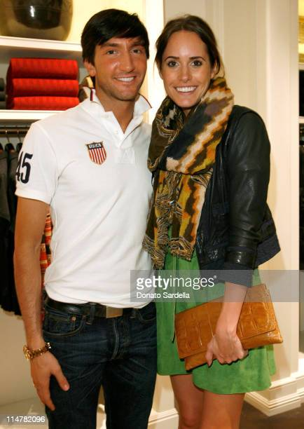 Gold medalist figure skater Evan Lysacek and stylist Louise Roe attend the celebration of Olympic gold medalist Evan Lysacek's victory at Ralph...