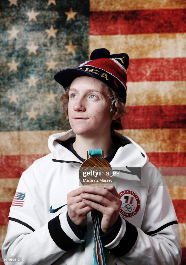 Gold medalist in Mens' Snowboard Slopestyle Redmond Gerard of the United States poses for a portrait on the Today Show Set on February 12, 2018 in Gangneung, South Korea.