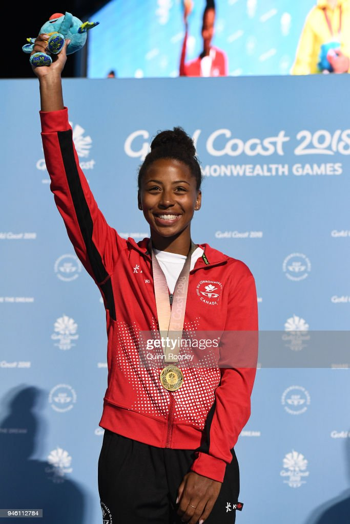 Gold medalist Jennifer Abel of Canada poses during the ...  Jennifer Abel