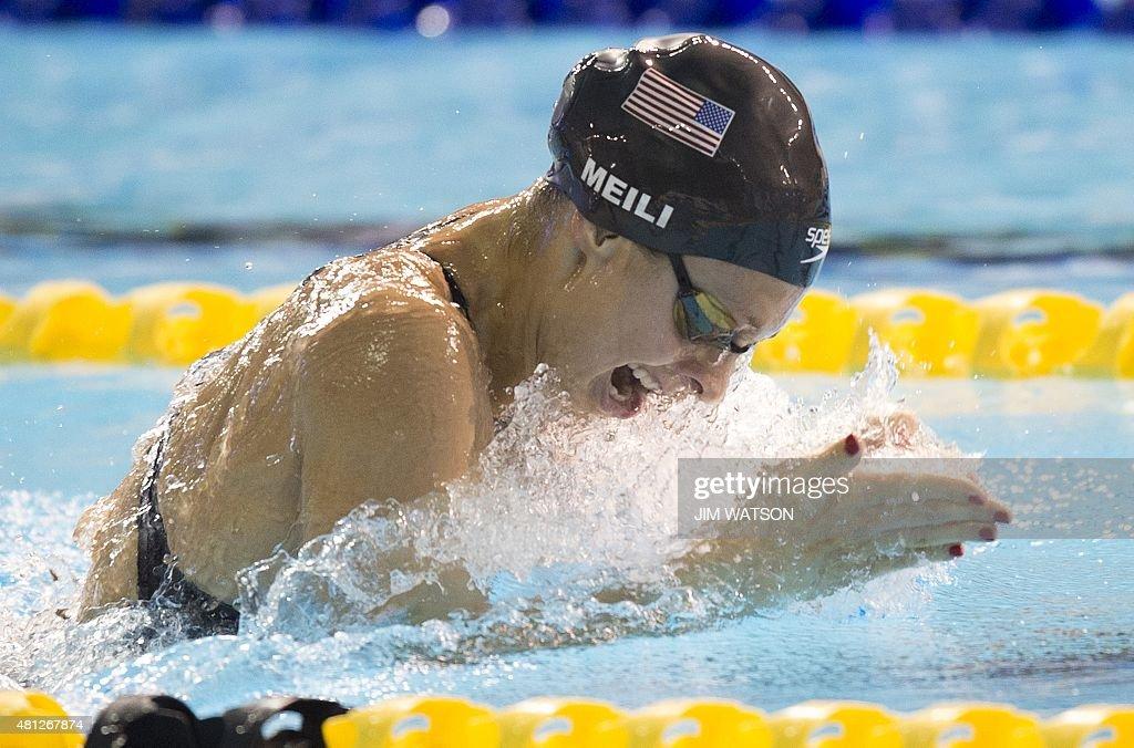 PANAM2015-CANADA-SWIMMING-WOMENS-4X100M-MEDLEY-RELAY : News Photo