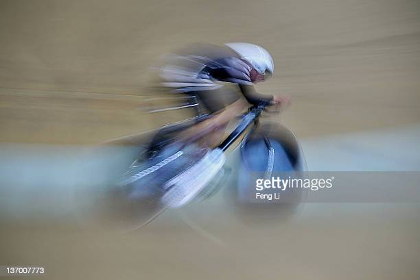 Gold medalist Latham Peter of New Zealand competes in the Men's Individual Pursuit Finals during day two of the 20112012 UCI Track Cycling World Cup...