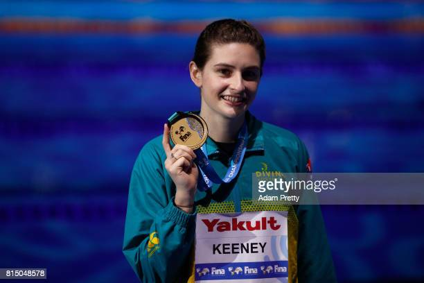 Gold medalist Maddison Keeney of Australia following the Womens Diving 1m Springboard Final on day two of the Budapest 2017 FINA World Championships...
