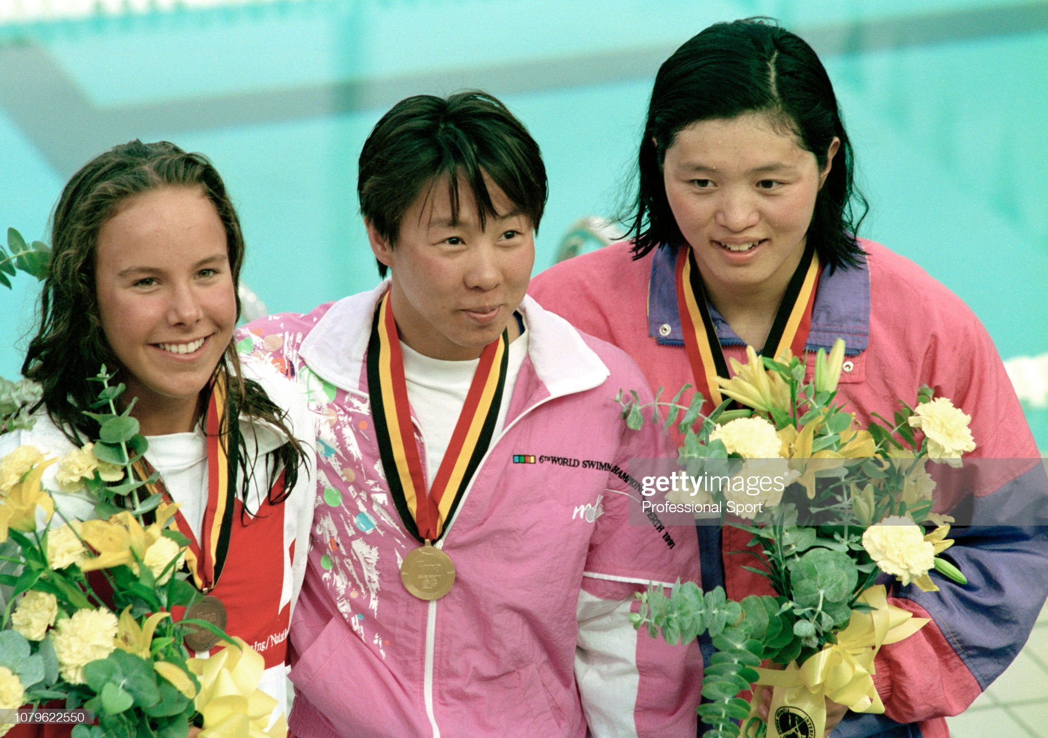 100m Women's Butterfly - 1991 World Aquatics Championships : Fotografía de noticias