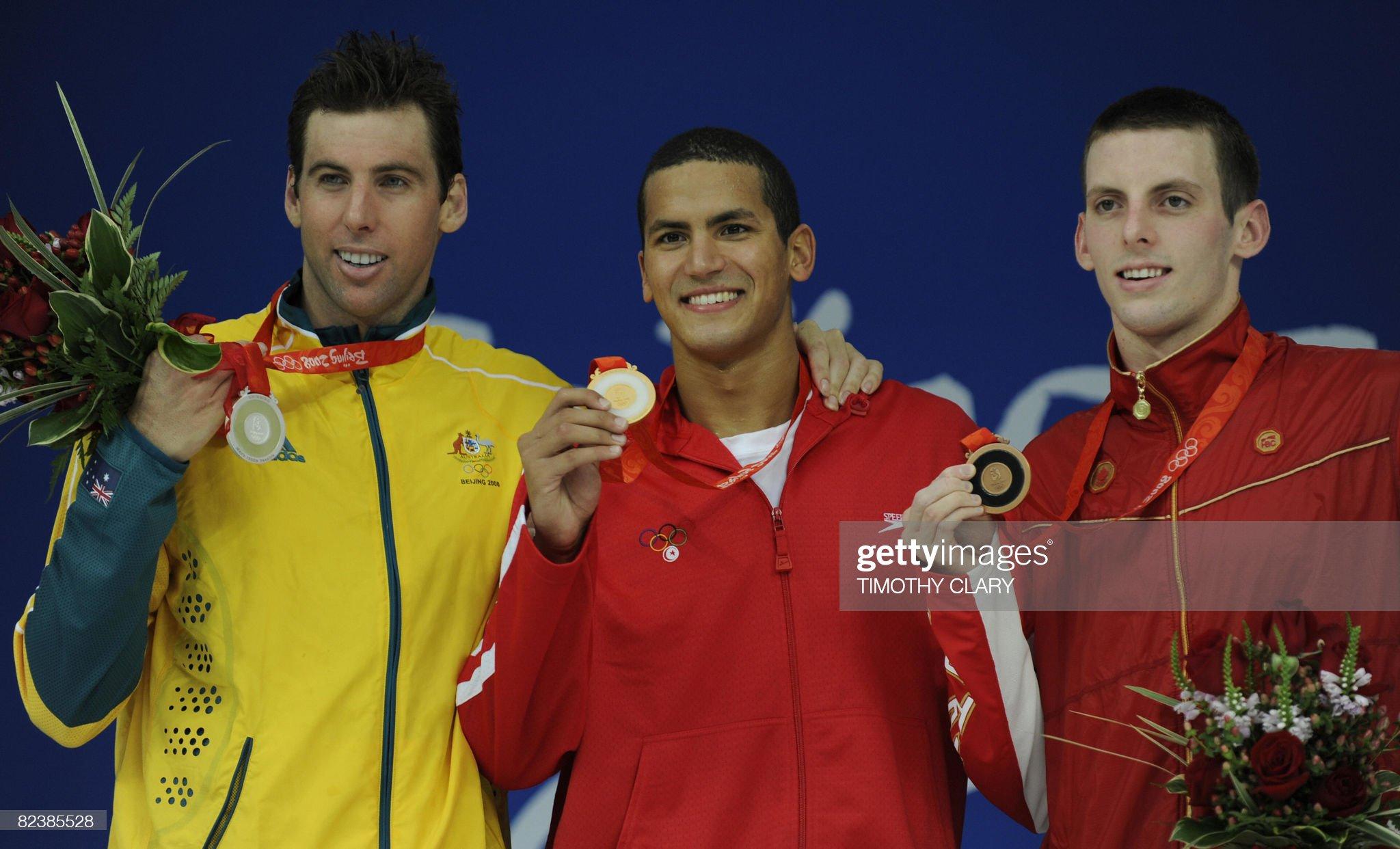 Gold medalist Tunisia's Oussama Mellouli : Fotografía de noticias