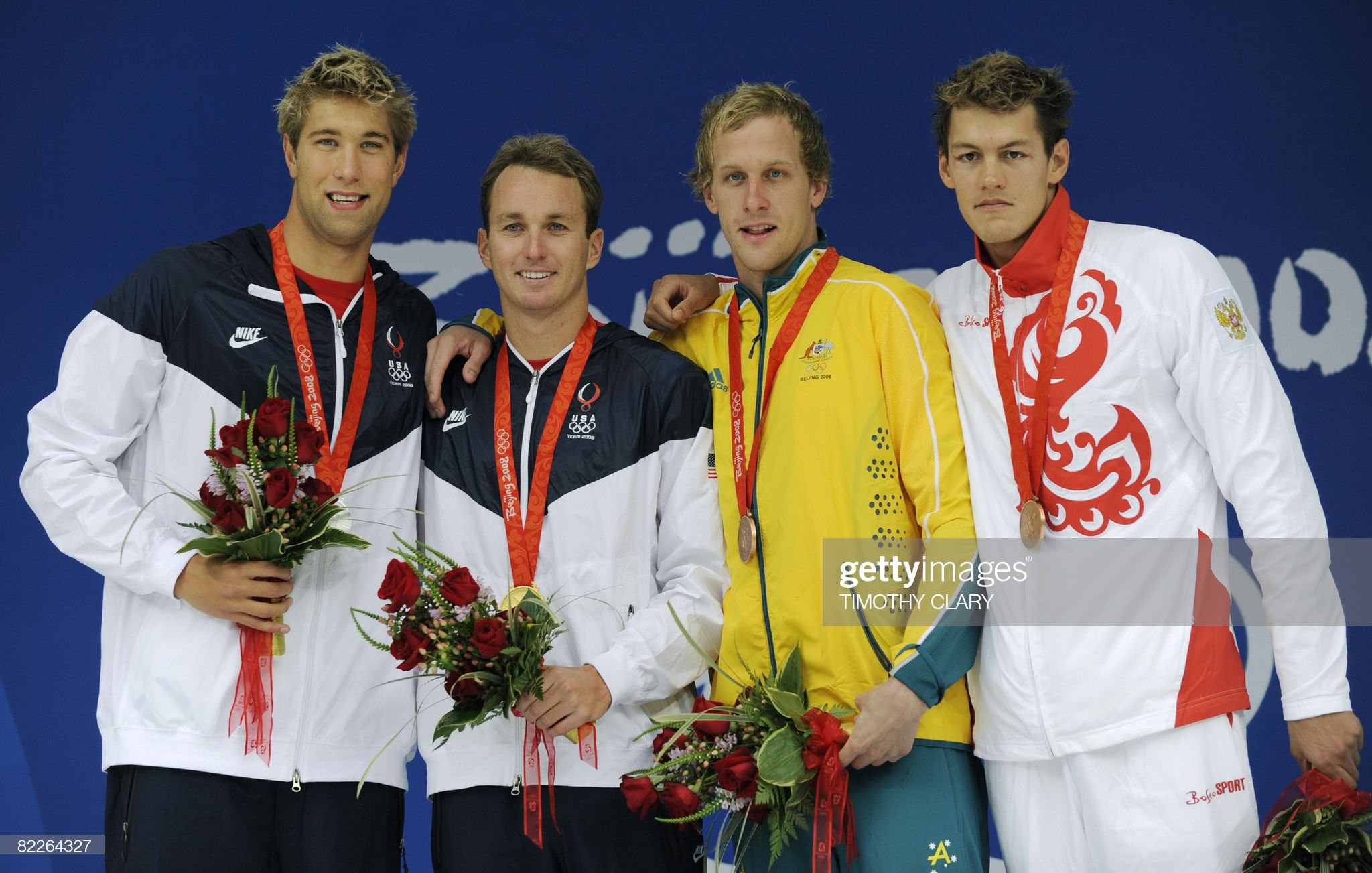 Gold medalist US swimmer Aaron Peirsol ( : Fotografía de noticias