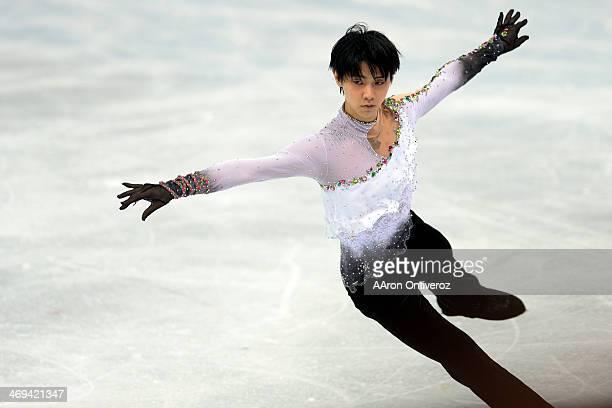 Gold medalist Yuzuru Hanyu of Japan during the men's figure skating free skate. Sochi 2014 Winter Olympics on Friday, February 14, 2014.
