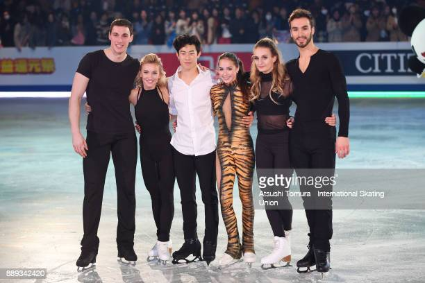 Gold medalists Bruno Massot and Aljona Savchenko of Germany Nathan Chen of the USA Alina Zagitova of Russia Gabriella Papadakis and Guillaume Cizeron...