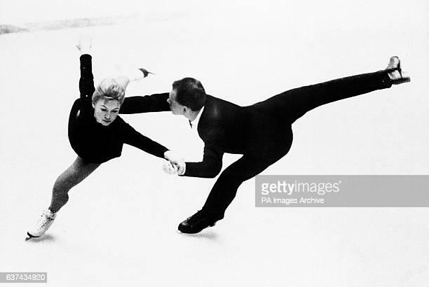 Gold medalists Lyudmila Belousova and Oleg Protopopov in action